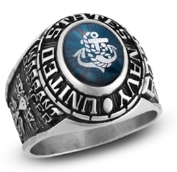 custom navy rings
