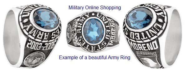 custom gold military rings
