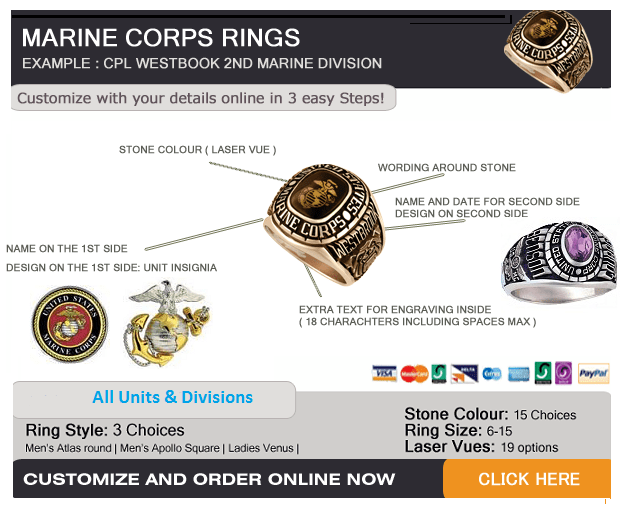 marine corps rings for men