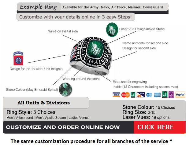 armed forces rings