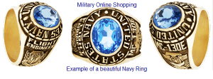 custom gold navy rings
