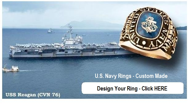 gold navy rings