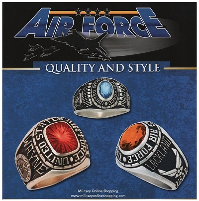 airforce rings and airforce emblems