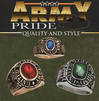 how to clean army rings