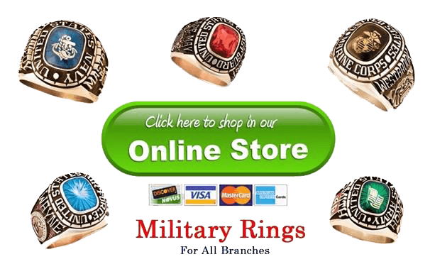 mens military rings stone designs