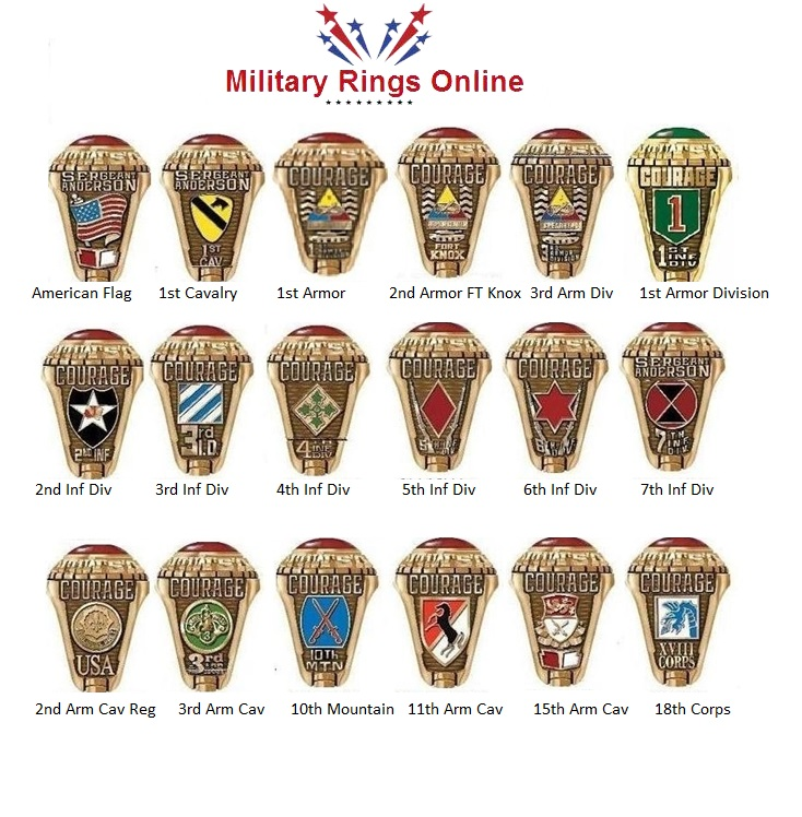 Us Army Class Rings: Gold Military Rings