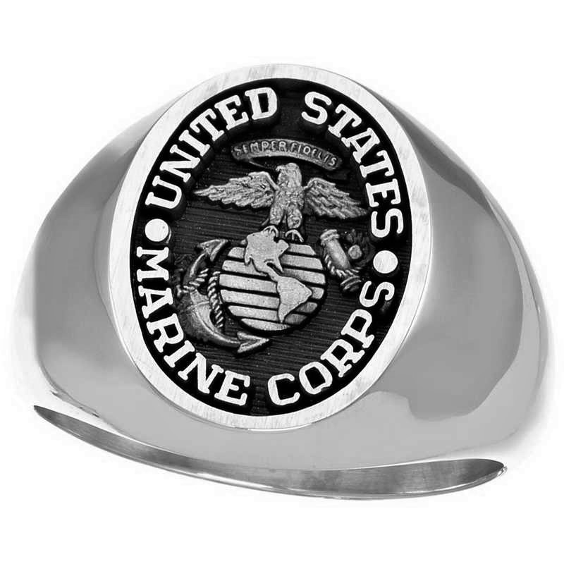 marine corps signet rings available in gold and silver