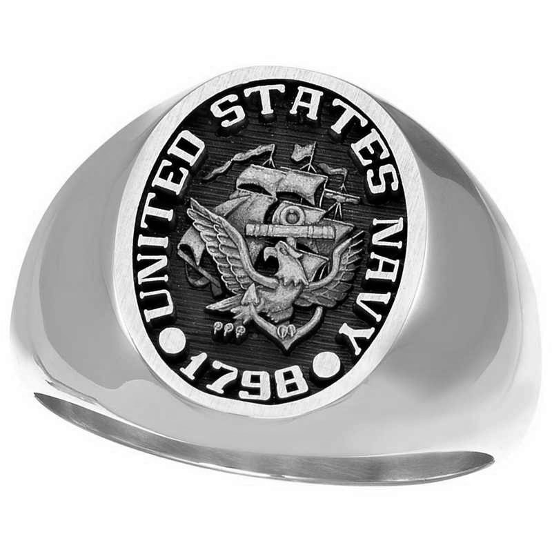 US Navy Signet Ring in silver and 10k solid gold